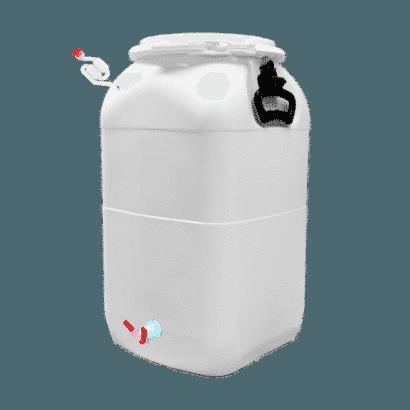 Balde Fermentador Bombona Completo 50L - Cor Branca
