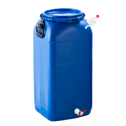 Balde Fermentador Bombona Completo 60L - Cor Azul