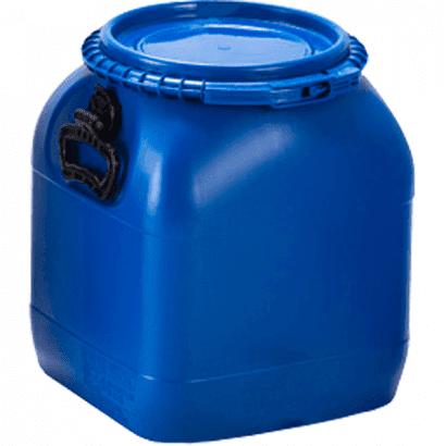 Balde Plástico Alimentício Tipo Bombona 30L - Cor Azul