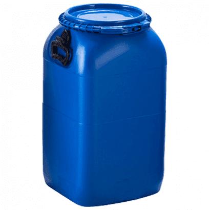 Balde Plástico Alimentício Tipo Bombona 50L - Cor Azul