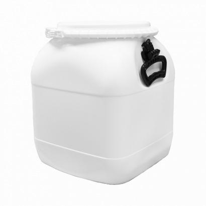 Balde Plástico Alimentício Tipo Bombona 30L - Cor Branca