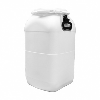Balde Plástico Alimentício Tipo Bombona 50L - Cor Branca