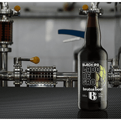 Cerveja Brotas Beer - Lado Negro Black IPA