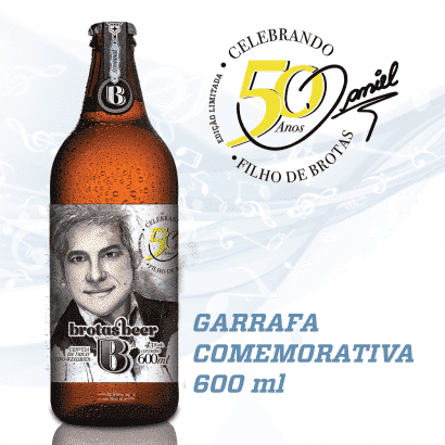 Cerveja Daniel 50 Anos Brotas Beer - Garrafa de 600 mL