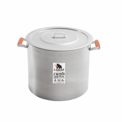 Panela de Alumínio com Alça de Madeira - 32 litros