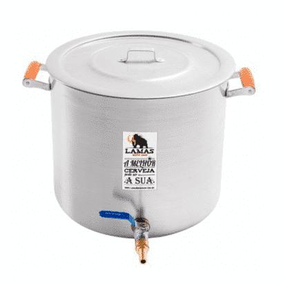 Panela de Alumínio para Fabricação de Cerveja - 32 litros