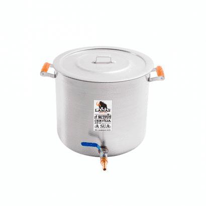 Panela de Alumínio para Fabricação de Cerveja - 8,7 litros