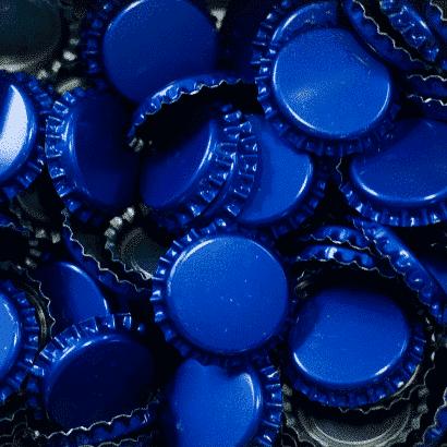 Tampinha - Rolha Metálica Azul (PRY-OFF)