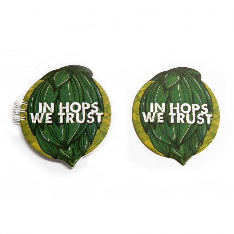 """Bloco """"In Hops We Trust"""" - Para Avaliação De Cervejas"""