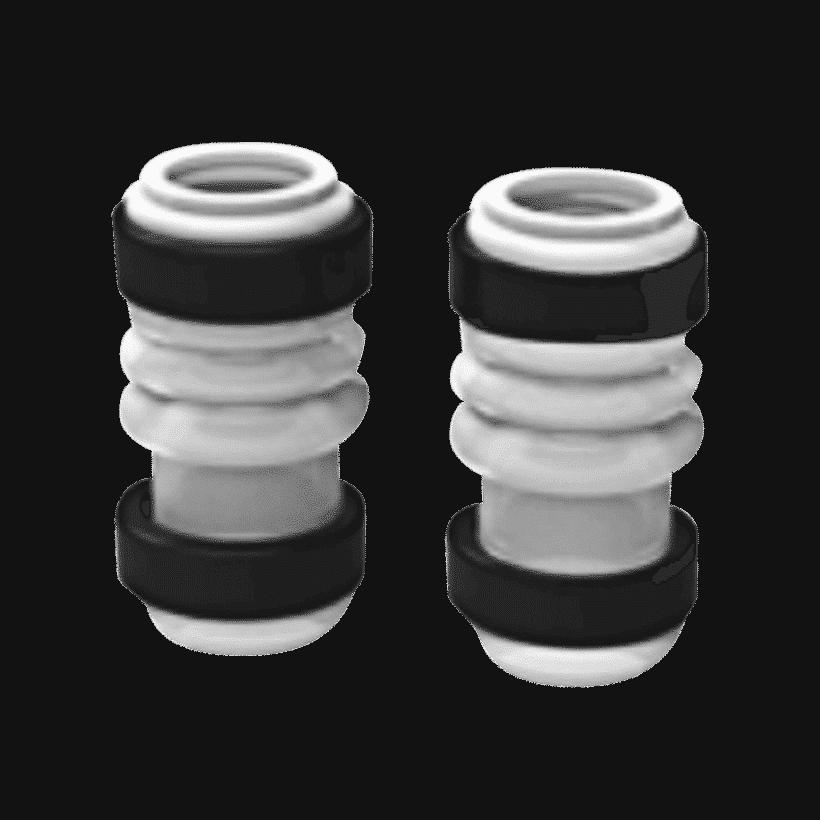 Conexão de Silicone para Bomba com Anéis de Fixação - Grainfather