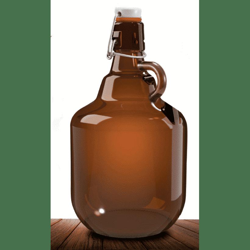 Growler / Garrafão de Vidro Flip-Top - 2 litros